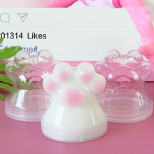 1 Pcs Cute Cat Claw  200ml Slime Box Plastic Container Transparent Storage PP for Fluffy Cloud Clear Clay
