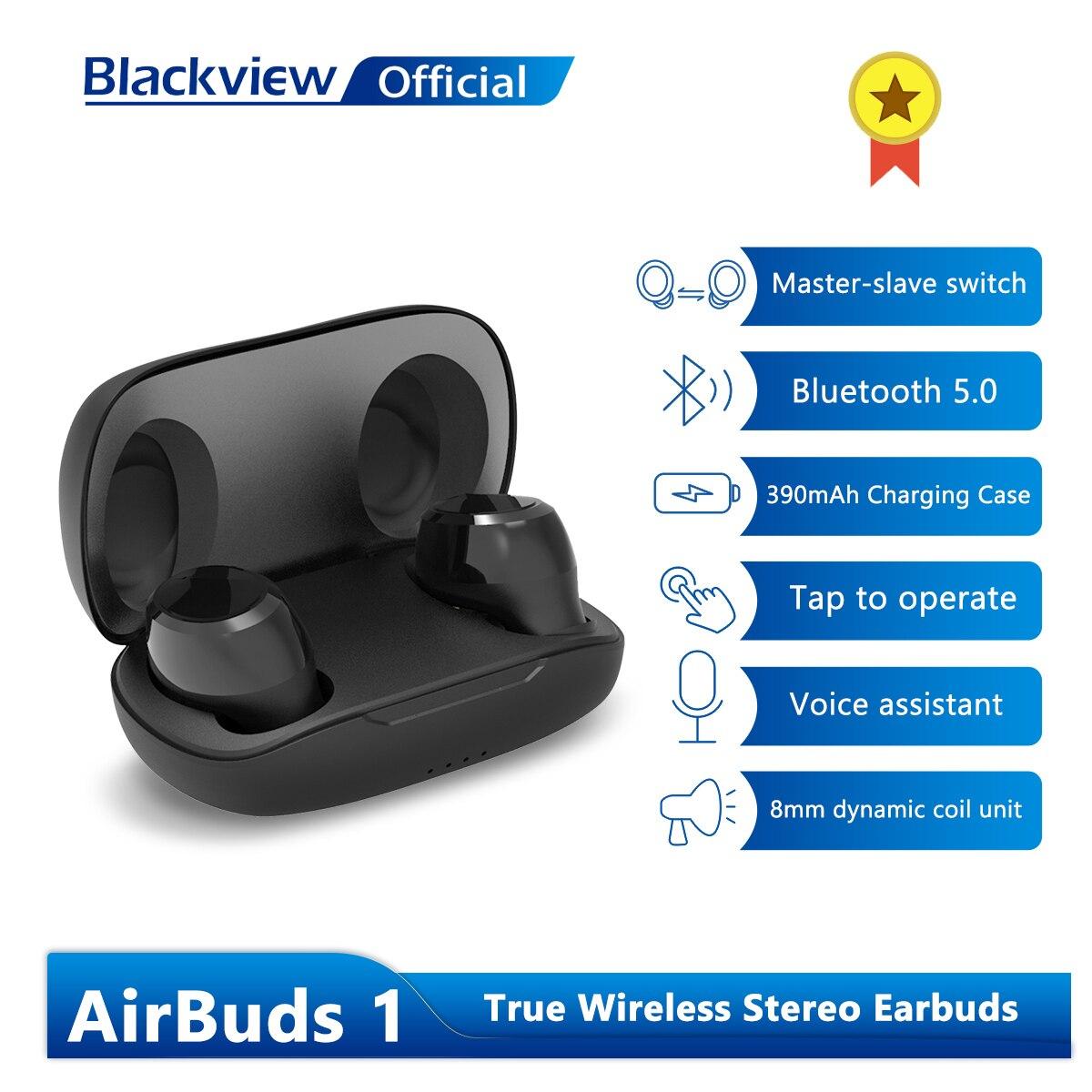 Blackview AirBuds 1 Наушники-вкладыши TWS Bluetooth наушники Беспроводной наушники IPX4 Водонепроницаемый гарнитуры зарядным устройством с микрофоном
