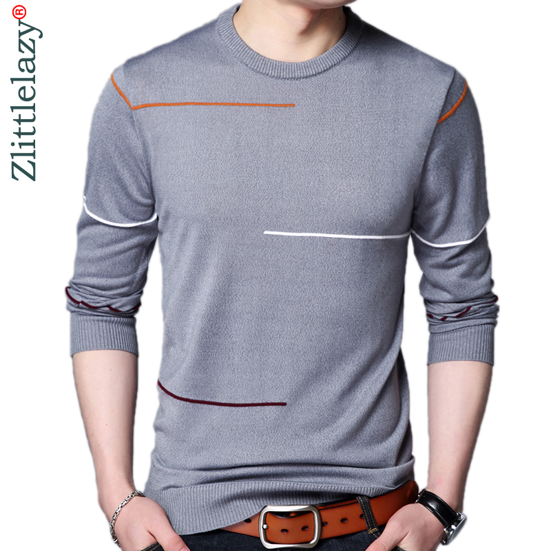2019 Designer Pullover Striped Men Sweater Mensthin Jersey Knitted Sweaters Mens Wear Slim Fit Knitwear Fashion Clothing 52533