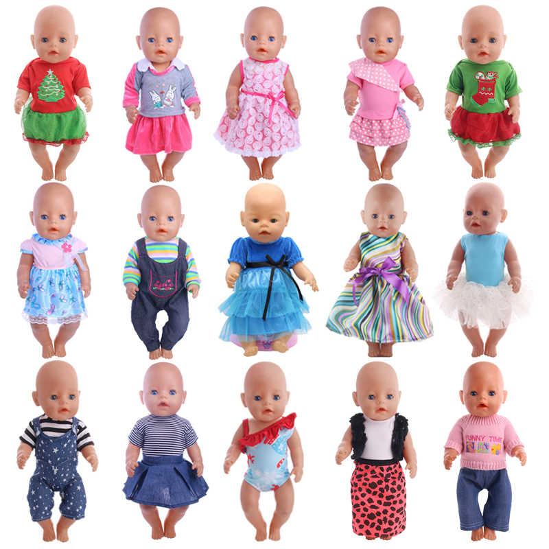 בעבודת יד בובת בגדי 15 סגנונות עבור 18 אינץ אמריקאי בובת & 43 Cm תינוק בובת שלנו דור ילדה של צעצוע