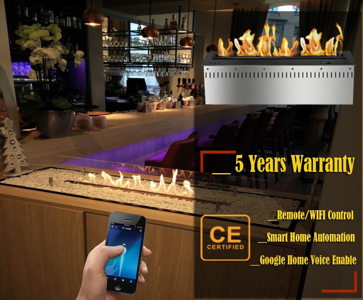 On Sale 24 Inch Luxury Bio Kamin Remote Fireplace Ethanol Chimney Burners With Wifi