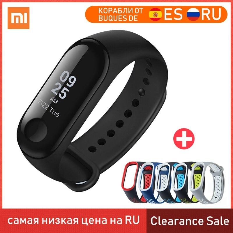 Xiaomi Mi Band 3 Miband 3 Smart Bracelet Multi Language 50M Waterproof Wristband Heart Rate Monitor Fitness Clearance Sale Smart Wristbands    - title=