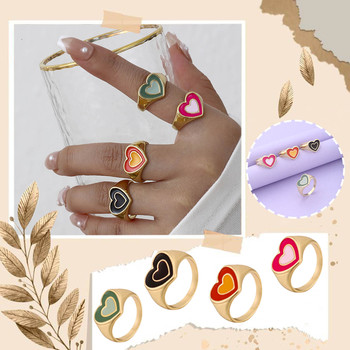 New Arrival aluminiowe pierścienie podwójny pierścień z sercem miłość pierścień z sercem s dla kobiet dziewczyna biżuteria śliczne biżuteria miłosna dla dziewczyn moda damska 08 tanie i dobre opinie CN (pochodzenie) Ze stali tytanu Kobiety Z żywicy Śliczne Romantyczne Zestawy ślubne Księżyc gift Heart Shaped Diamond Ring
