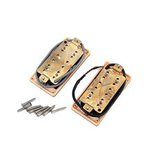 все цены на 2Pcs Electric Guitar Pickups Ceramic Magnets Double Coil Humbucker Pickup онлайн