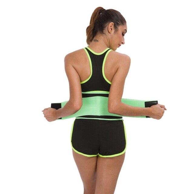 Men Women Fitness Waist Belt Waist Trimmer Belt Weight Loss Sweat Band Gym Training Weightlifting Tummy Slim Belts Body Shaper 2