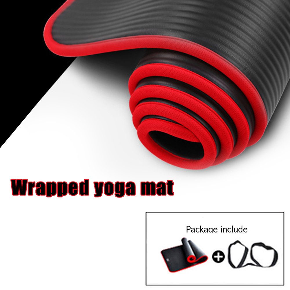 TPE Yoga Mat With Position Line Fitness Gymnastics Mats Double Layer Non-slip