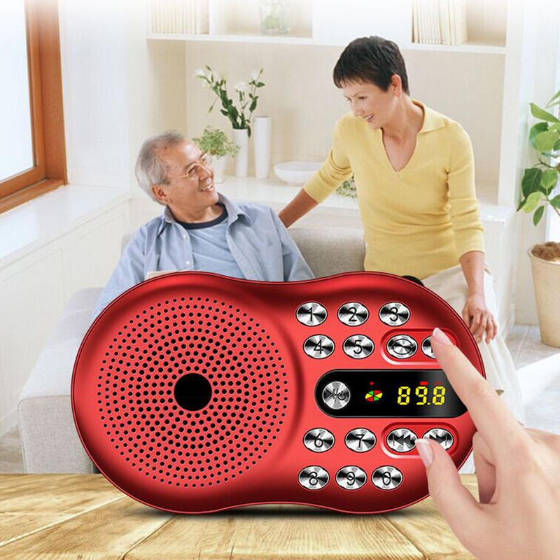 Radio MP3 Portable Stereo Speaker Portable Music Player For The Elderly Support TF Card Radio Fm LED High Definition Display