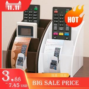 Image 1 - Soporte de plástico para mando a distancia de TV, soporte para teléfono móvil, cajas de almacenaje para oficinas, estuche de almacenamiento para escritorio