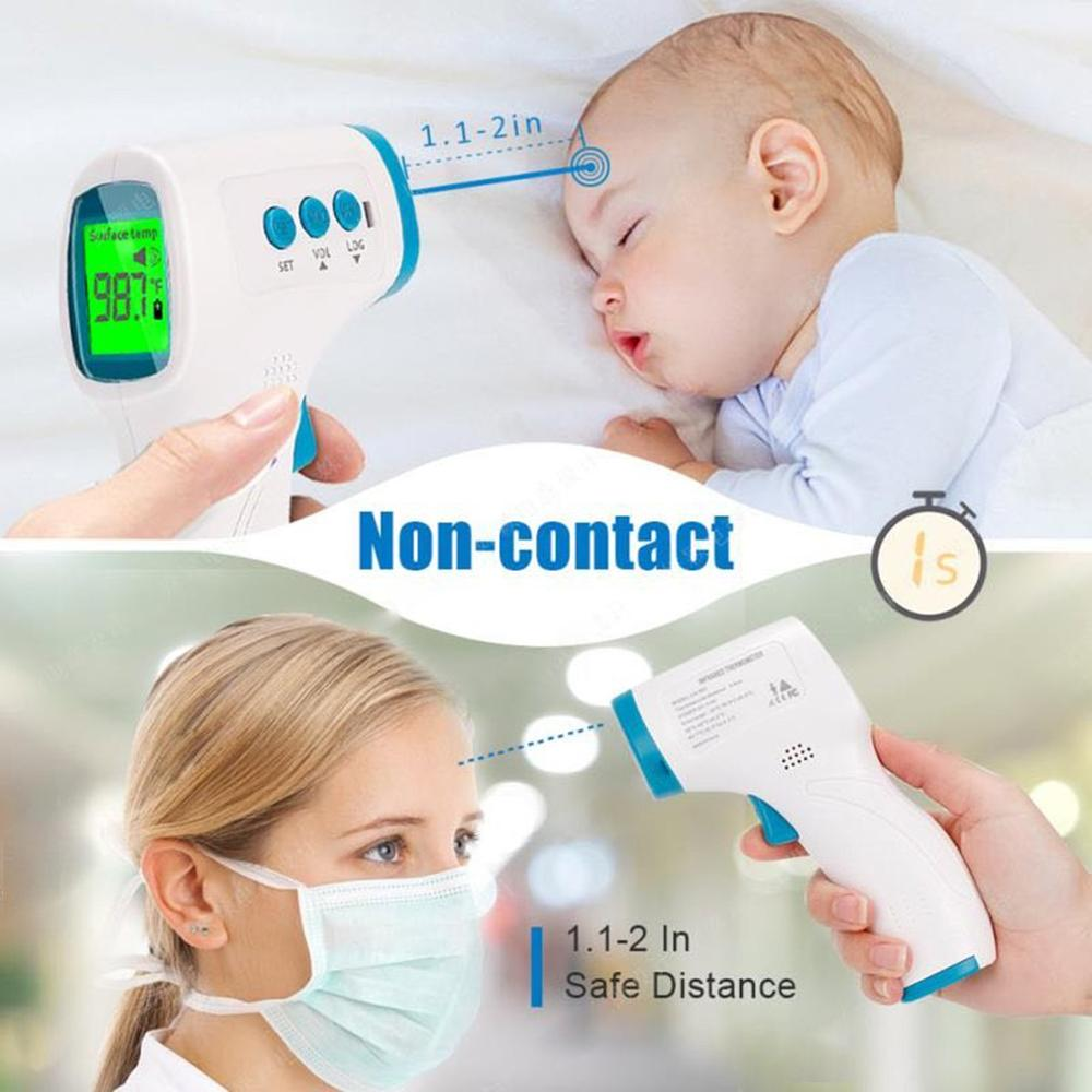 Non-contact Infrared LCD Monitor Infrared Thermometer Infrared Forehead Thermometer Laser Precise Digital Temperature Device