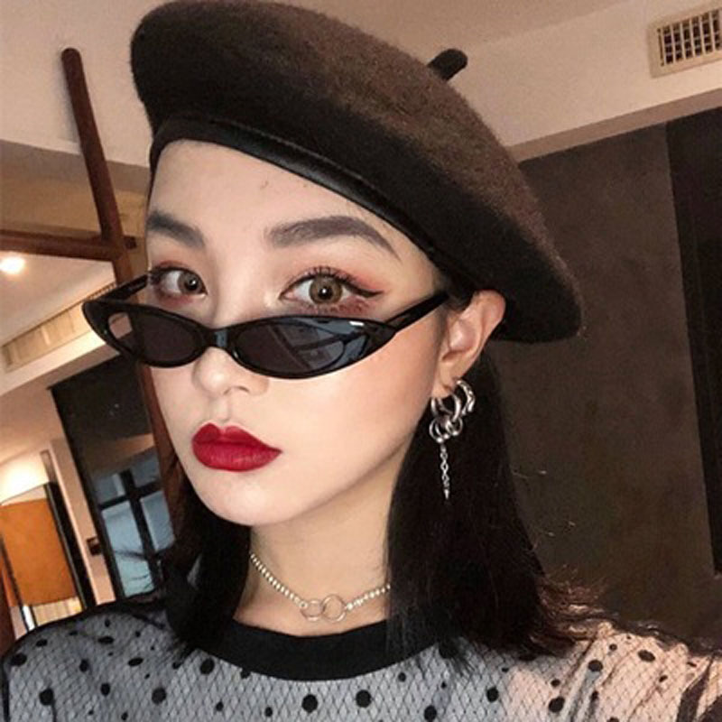 Elliptical Adult Plastic Small Women Sunglasses Trend Fashion Brand Designer Trend Products Glasses