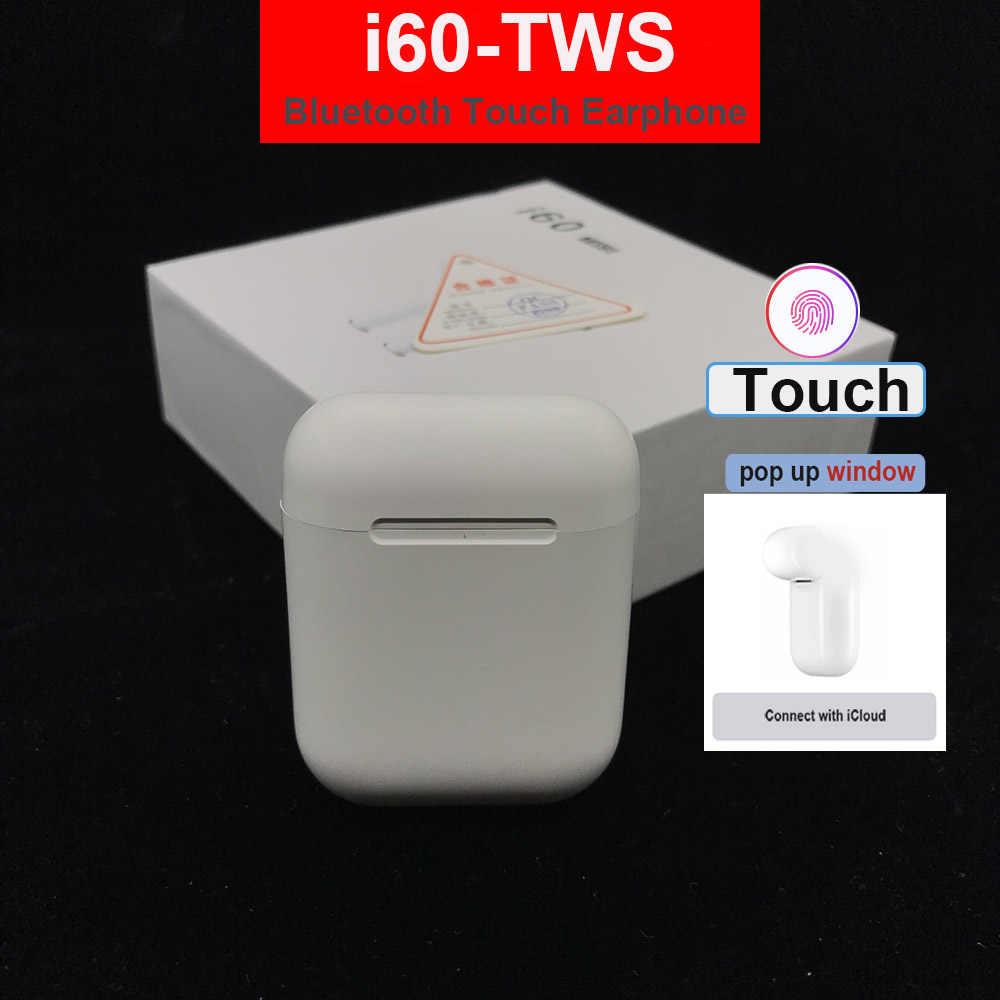 Sterowanie dotykowe i60 tws bezprzewodowy zestaw słuchawkowy Bluetooth 5.0 słuchawki 3D słuchawki super bass pk i10 tws i20 tws i30 TWS dla xiaomi iphone