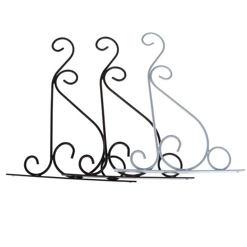 Planta suporte vaso de flores ganchos titular pendurado ferro pingente planta suporte vaso de flores gancho quadro decoração do jardim