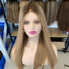 Perruques Lace Top Wig personnalisée, meilleure perruque juive, cheveux européens nouveauté