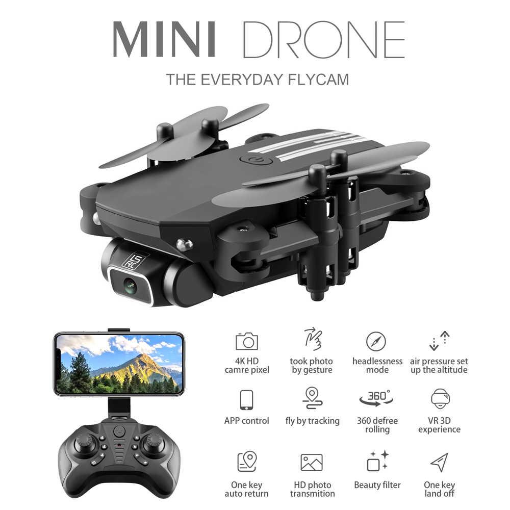 Przenośny Mini Drone 4K 1080P kamera HD WiFi Fpv ciśnienie powietrza wysokość trzymaj składany Quadcopter RC zabawkowy dron