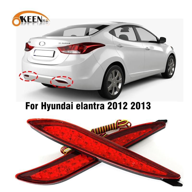 2 предмета в комплекте, для Hyundai Elantra 2012 2013 Автомобильный светодиодный задний бампер отражатель задний фонарь светильник хвост светильник то...