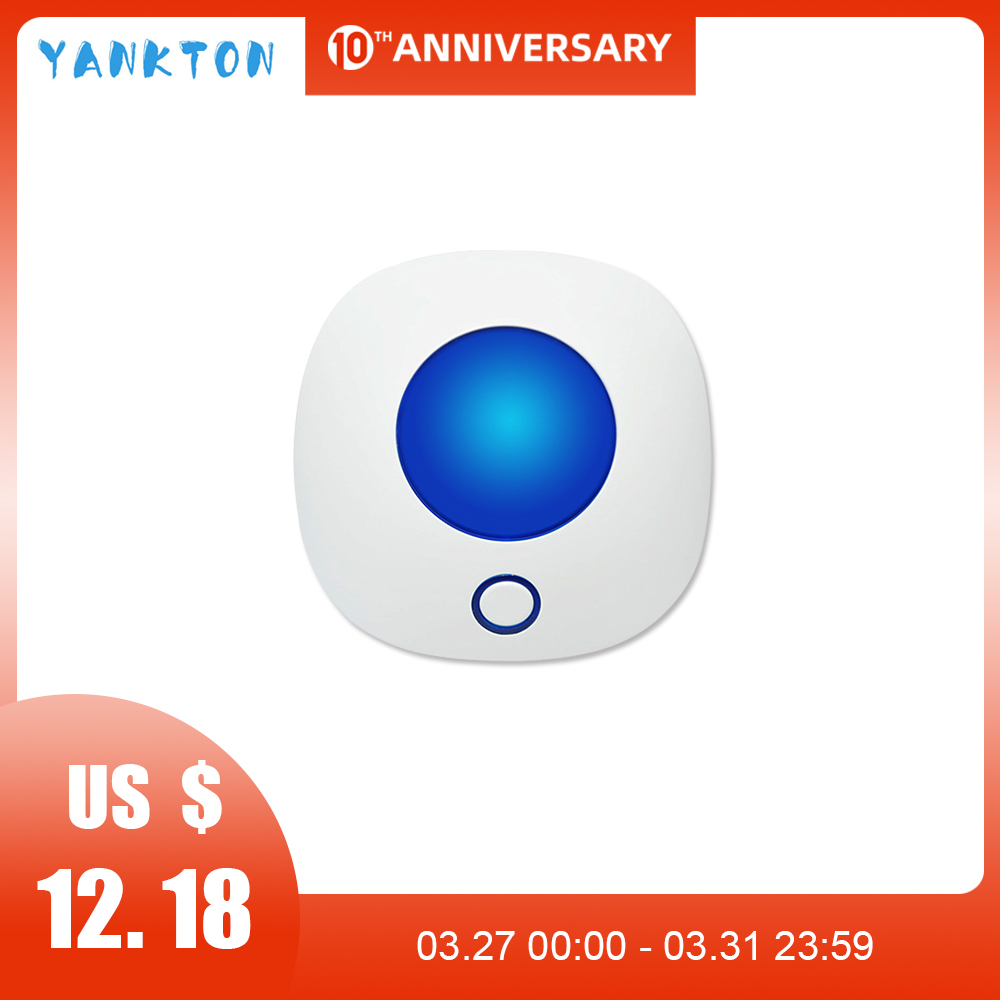 110dB Indoor 433MHz WiFi Wireless Flashing Strobe Siren Light Siren For Home Alarm Security System Horn Siren Red/Blue Color