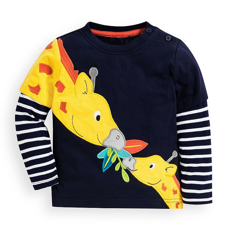 Animal Applique Cotton Boys T-shirt