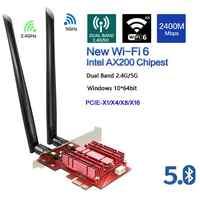 3000 mbps banda dupla 2.4g/5g intel ax200 wifi 6 pci-e pci express wifi adaptador bluetooth 5.0 placa de rede 802.11ax para desktop pc