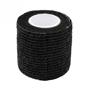 Image 2 - 6pcs Tattoo bandage roll self adherent cohesive tape sports tape wrist self adhesive for tattoo cover accessories black color