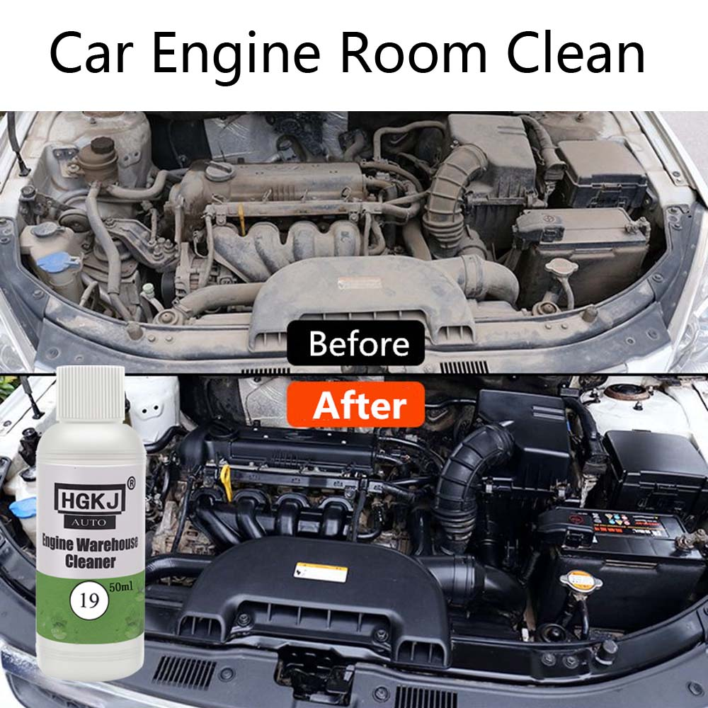 HGKJ Car Engine Compartment Cleaner 1:8 Diluted Concentrate Engine Room Cleaner Car Accessories Remove Dust Dirt Heavy Oil