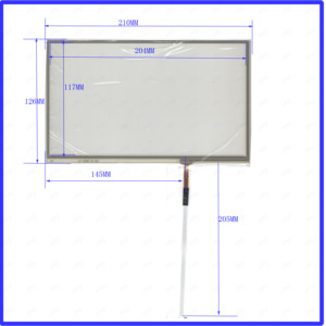 ZhiYuSun HLDTP2926 this is compatible 9inch 4 lines touch screen panel Sensor glass Compabible for GPS CAR HLD-TP-2926(China)