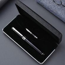 Ручка перьевая duke d2 со средним пером и зажимом черного серебряного