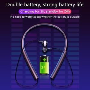 Image 5 - Bluetooth kulaklık 6D spor Handsfree kulaklık kablosuz kulaklık manyetik kulaklık cep telefonu için mikrofon ile Xiaomi