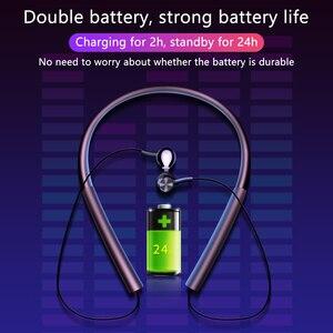Image 5 - Écouteurs Bluetooth, écouteurs mains libres sportifs, écouteurs sans fil, casque magnétique avec Microphone pour téléphones portables Xiaomi