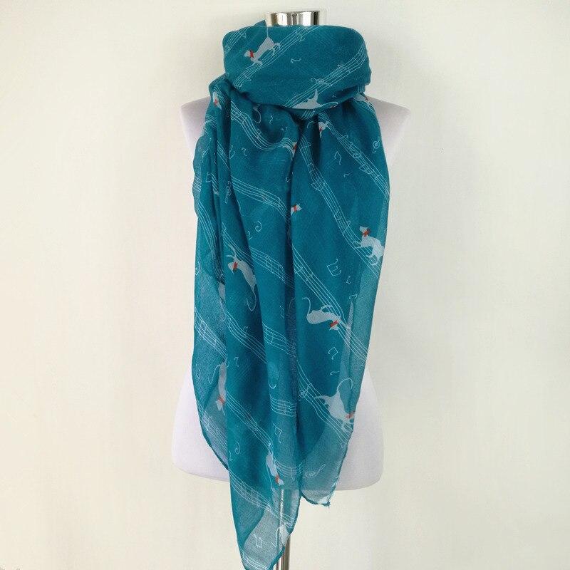 Women Ladies Horse Animal Print Scarf Fashion Shawl Wrap Sarong Long Navy White