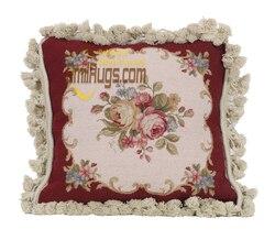 Traditional Chinese needlepoint pillows Pillow Cross Stitch Flower Fleece Pillow Square Pillow Cover Cushion Case Toss Pillow