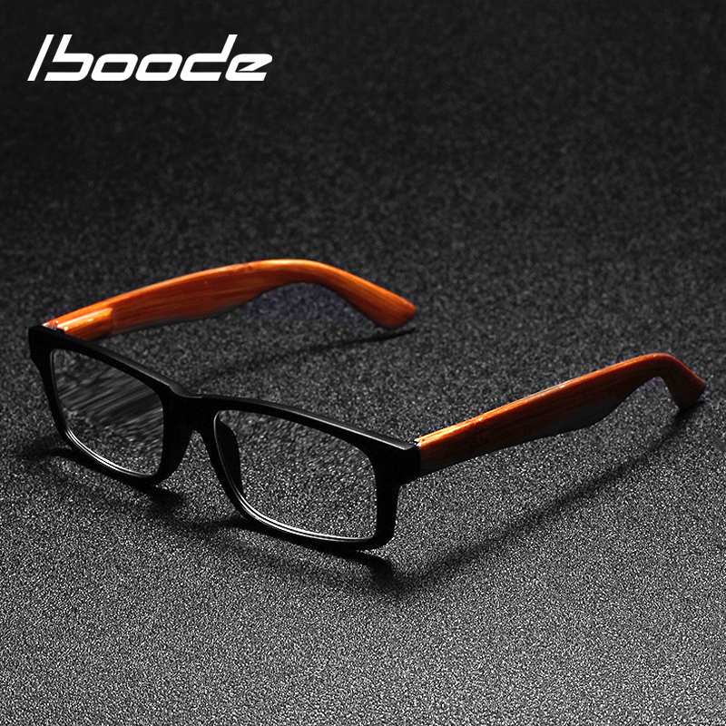 Iboode Reading Glasses Men Women Presbyopic Unisex Eyeglasses Fashion Wood Grain Glasses With Diopter Oculos +1 1.5 2 2.5 3 +3.5