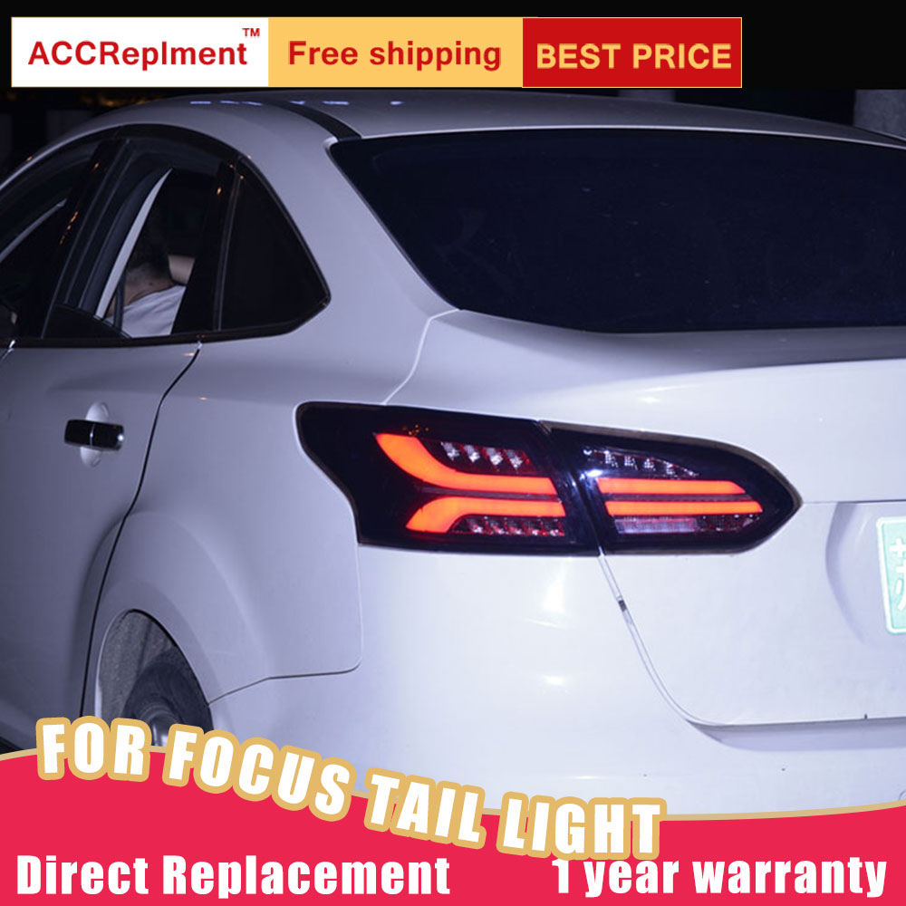 New LED <font><b>Taillights</b></font> Assembly For <font><b>Ford</b></font> <font><b>Focus</b></font> 2015-2018 LED Rear Lamp Brake Reverse Light Rear Back Up Lamp DRL Car Tail lights image