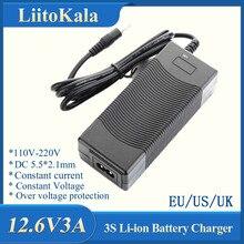 LiitoKala 3S 12.6V 3A 12V אספקת חשמל ליתיום סוללות ליתיום batterites מטען AC 100 240V ממיר מתאם