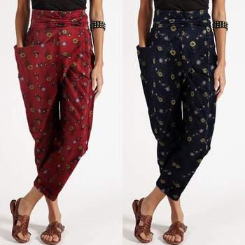 ZANZEA-pantalones bombachos estampados para mujer, pantalón de cintura alta con cinturón, estilo Palazzo, con cremallera, de talla grande