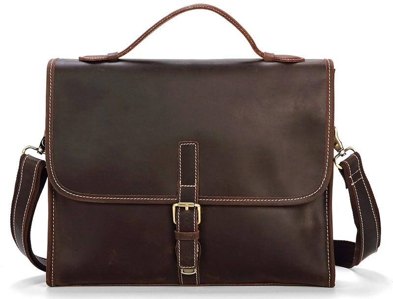 Genuine Leather Cow Skin Casual OL Business Messanger Bag Handbag