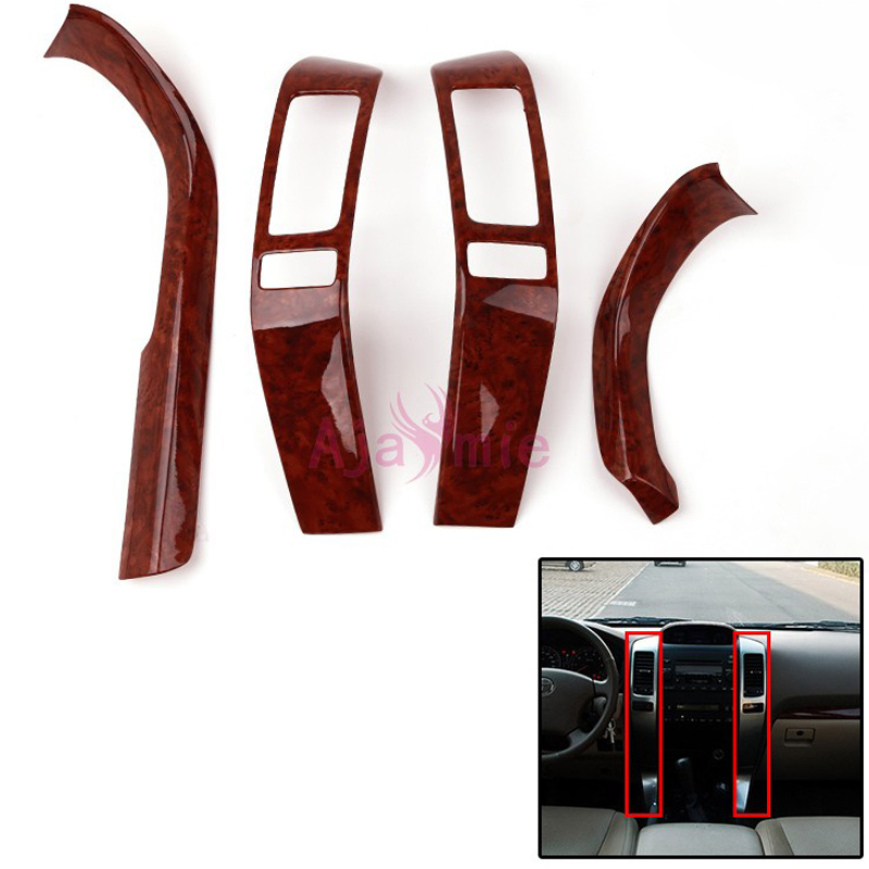For <font><b>Toyota</b></font> Land Cruiser 120 Prado <font><b>FJ120</b></font> 2003-2009 Interior Wooden Color Moulding Trim Protector Panel Cover Auto Accessories image
