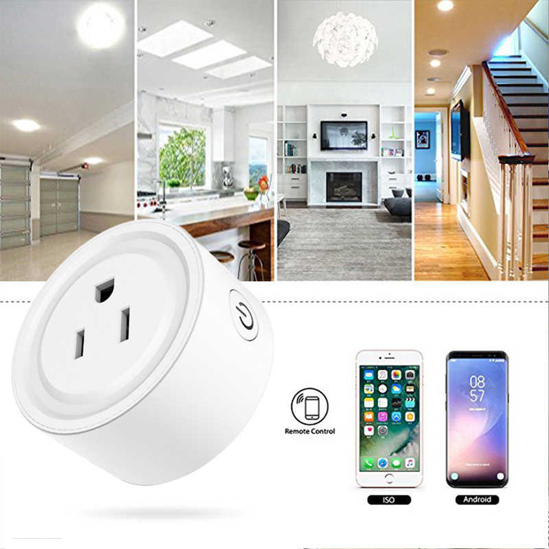 1PC Mini prise intelligente Wifi sans fil prise intelligente interrupteur de prise US prise