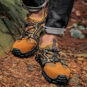Image 4 - Men Mesh Aqua Shoes Outdoor Professional Non slip Durable Trekking Upstream Shoes Man Cool Hiking Wading Water Sports Sneakers