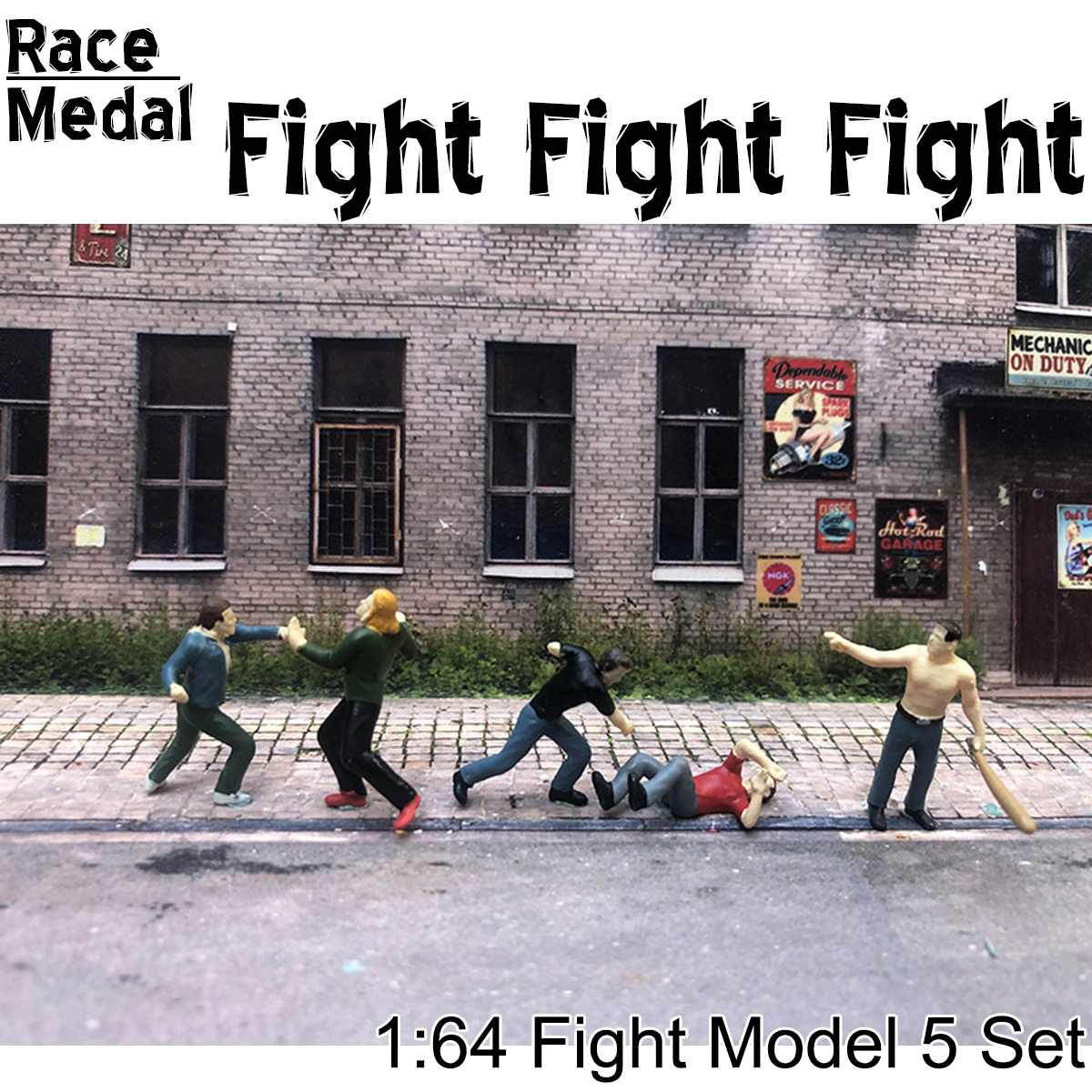 1:64 Scale Outdoor Attack Group Fights Man Tactical Baseball Figure People Scenario Model Scene For Race Medal Matchbox