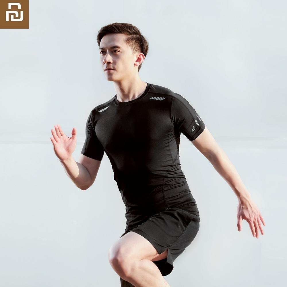 Youpin ZENPH Men's Breathable Quick Drying Tight T-shirt Fitness Running Training Sportswear Summer Comfortable Short Sleeve