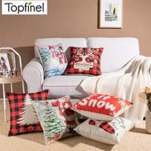 Topfinel рождественские стильные чехлы на подушки с принтом