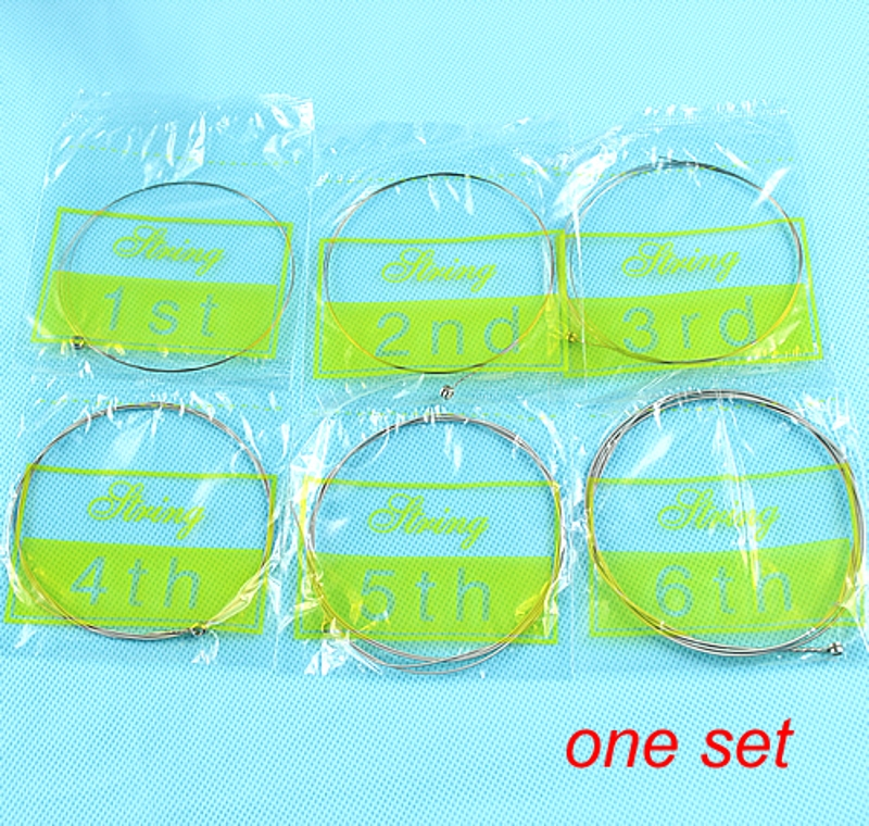 1 Set Of 6pcs Steel 150XL/023 Gauge Strings Electric Guitar