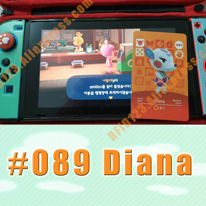 089 Diana  Animal Crossing Card Amiibo Cards Work For Switch NS 3DS Games