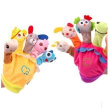 Повествование родителей и детей интерактивный с музыкальной коробкой пальчиковые куклы Мультяшные животные ручные кукольные перчатки плюшевые игрушки