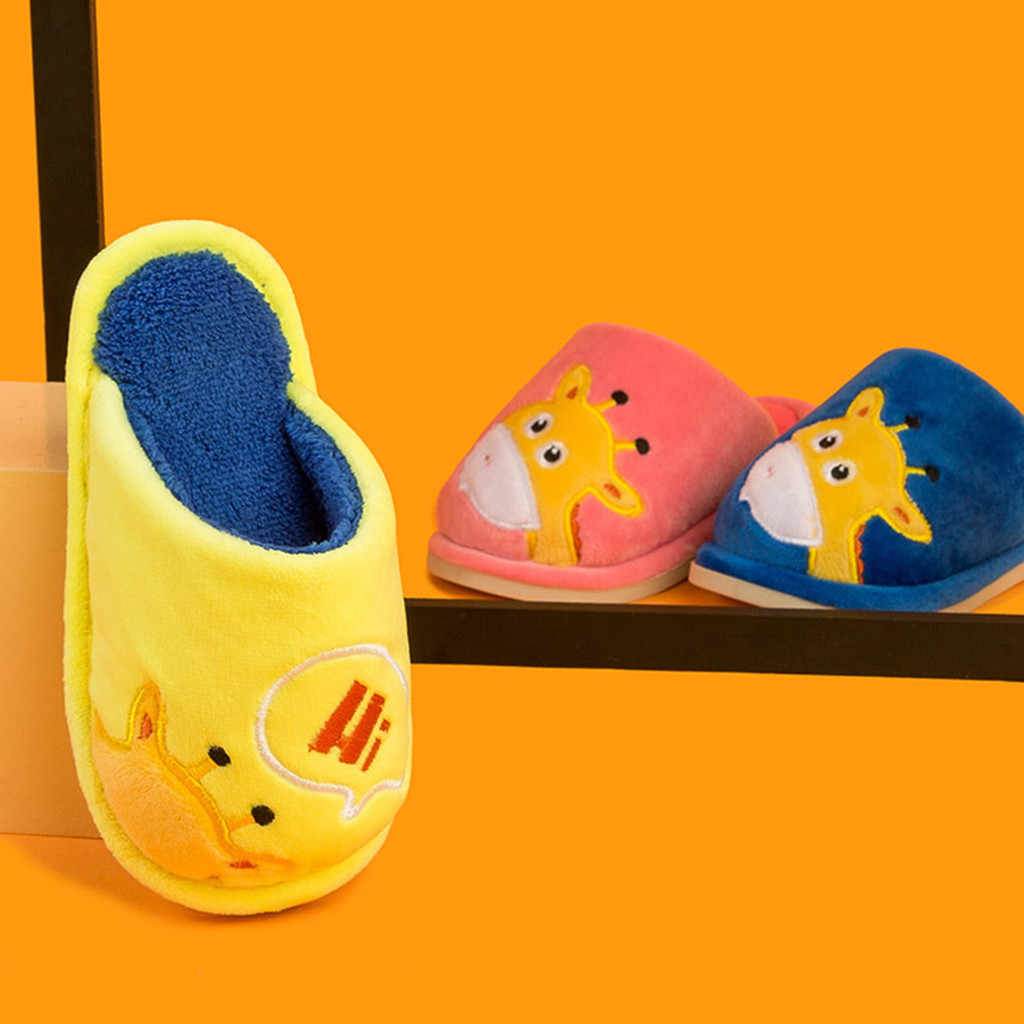 เด็กรองเท้าแตะ 2019 ฤดูใบไม้ร่วงฤดูหนาวเด็กใหม่เด็กวัยหัดเดินรองเท้าเด็กเล็กน่ารักน่ารักรองเท้าแตะเด็กรองเท้าเด็ก