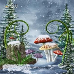 Image 4 - Laeacco Wonderland Fairy Taleเห็ดป่าการถ่ายภาพพื้นหลังเด็กวันเกิดฉากหลังPhotophone Photocall Photo Studio