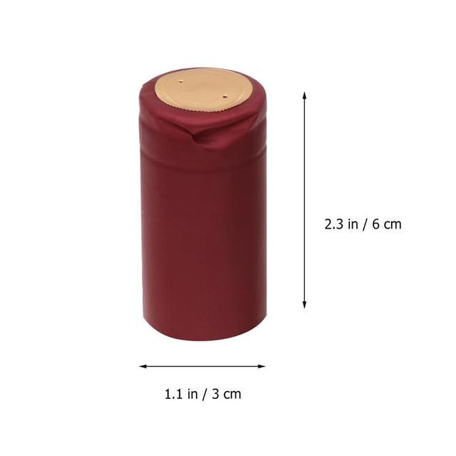 Capsules thermorétractable de vin 100 pièces | Bouteille de vin, bouchon en plastique thermorétractable, vin rouge, Film thermorétractable, bouteille Double Buccal