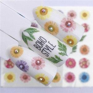 1 лист стикеров для ногтей, переводная наклейка с водой, мультяшный фламинго, милый цветочный дизайн с животными, слайдер для дизайна ногтей, маникюрное украшение