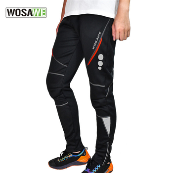 WOSAWE Winter Men MTB Pants Warm Thermal Fleece Windproof Cycling Bicycle Pants Reflective Downhill Road Mountain Bike Trousers 220v 380v electric hydraulic pump portable 750w high pressure pump hand switch foot switch with shockproof pressure gauge