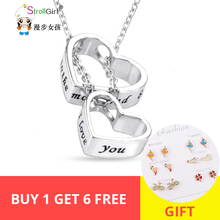 StrollGirl 100% 925 Sterling Silver Heart Pendant Necklace Symbol Of Love To Chain Jewelry valentines Gift Hot Sale